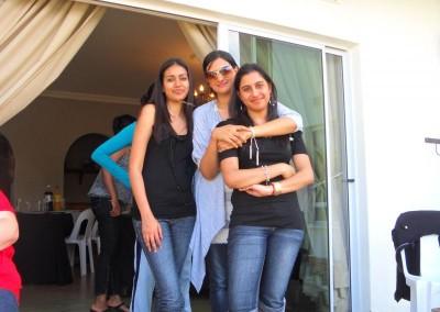 Priya, Luthfiya and Nickara enjoying themselves