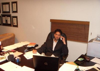 Imraan Lockhat in his new office