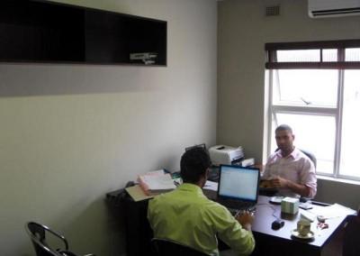 Ismail Lockhat hard at work