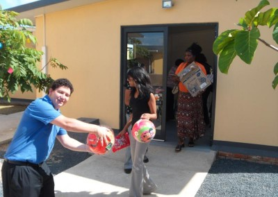 Pieter Erasmus from Coastal Accounting showing of his ball skills!