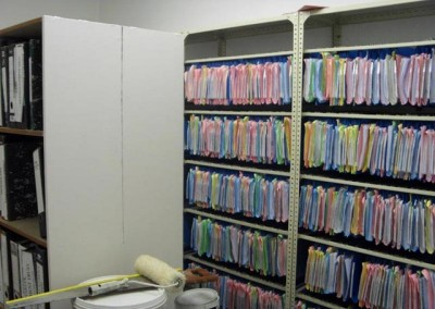 All the filing neat and organised