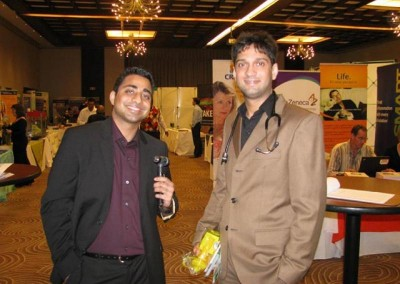 Mr Imraan and Muhammad Lockhat at a conference