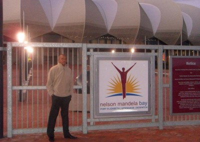 Herbert Zata at the Nelson Mandela Stadium in Port Elizabeth