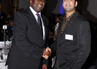 Mr Imraan Lockhat meets the Minister of Finance of South Africa, Mr Nhlanhla Nene during 2015